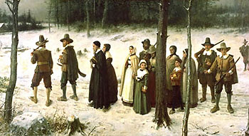 "George H. Boughton ""Pilgrims Going to Church"""